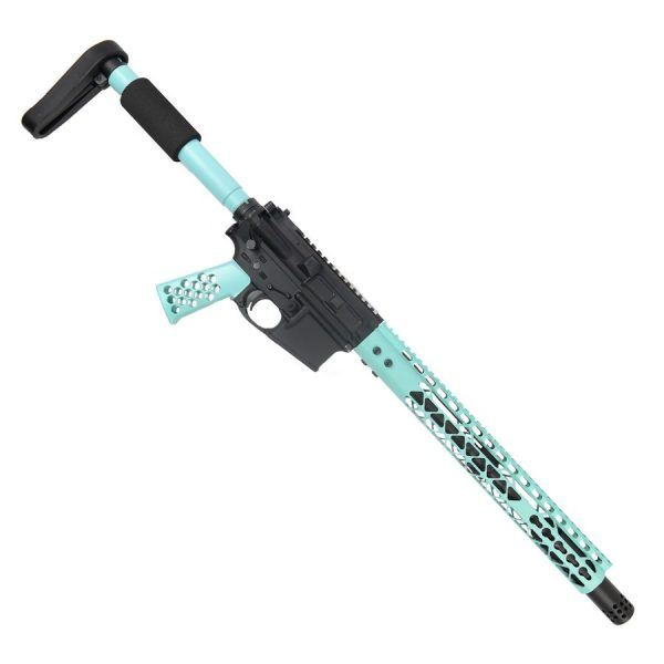 "AR-15 5.56 Rifle Upper Set ""The Tiffany"" in Light Blue MOD-0"