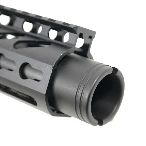 "AR 15 Pistol Upper 5.56 9"" KeyMod Slim Profile RIP Series Black close up"