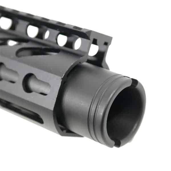 "AR 15 Pistol Upper 5.56 9"" KeyMod Slim Profile RIP Series Black close up"