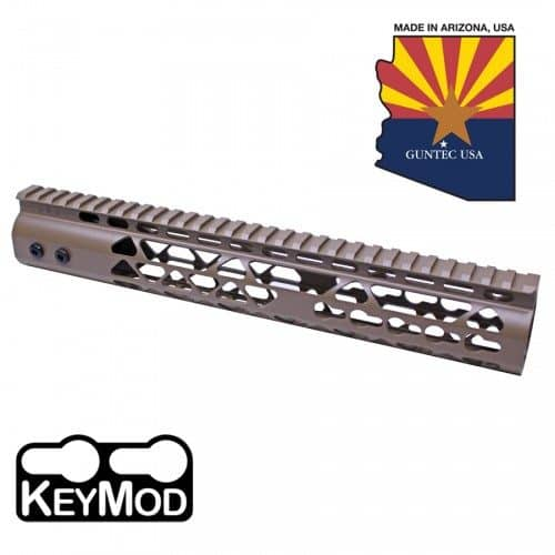 "AR-15 Diamond Series 10"" KeyMod Free Float Handguard In FDE"