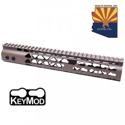 "AR15 Diamond Series 12"" KeyMod Free Float Handguard in FDE"