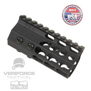 "AR15 KeyMod Free Float Super Light octagonal 4.2"" Pistol Length Handguard"