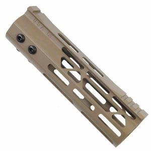 AR15 7 Inch Free Float M-LOK Custom MOD LITE Handguard In FDE