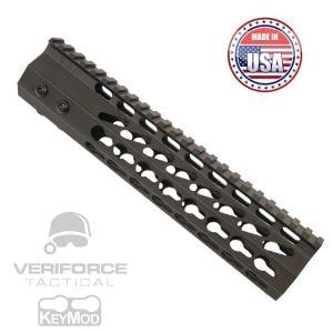 "AR15 KeyMod Free Float Super Light octagonal 9"" Mid-Length Length Handguard"