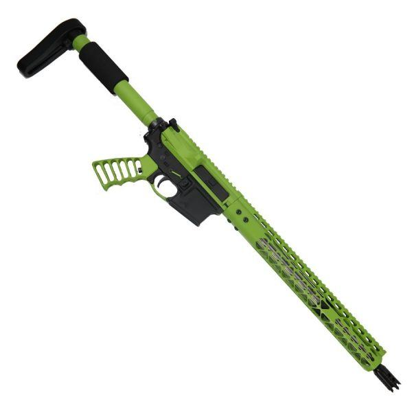 AR-15 5.56 Rifle Upper Undead Zombie Green Series ON LOWER