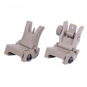 AR-15 Slim Profile Back Up Iron Sights Gen 2 In FDE