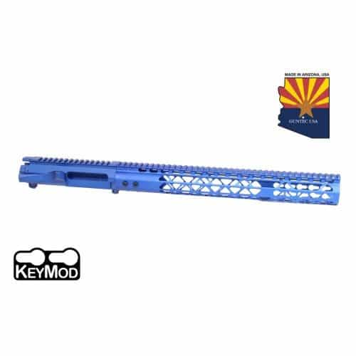 AR-15 Stripped Upper Receiver With Air Lite Handguard Set Anodized Blue