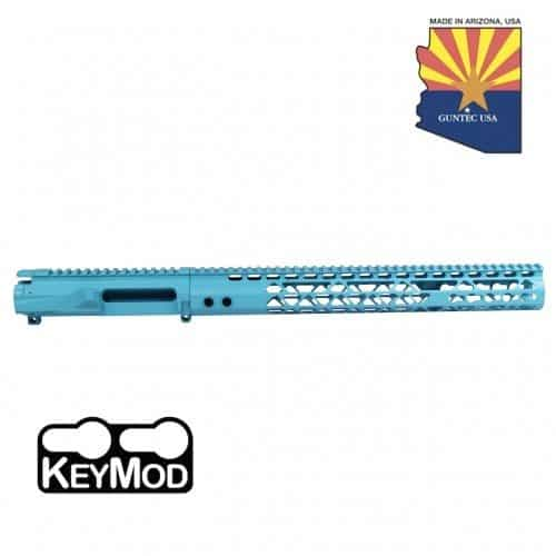 AR-15 Stripped Upper Receiver With Air Lite Handguard Set In Baby Blue