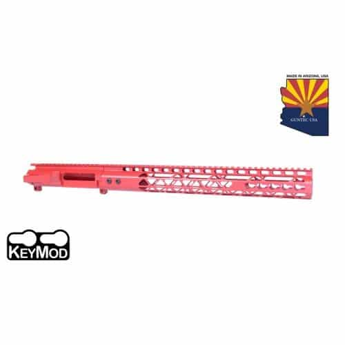 AR-15 Stripped Upper Receiver With Air Lite Handguard Set Cerakote Red