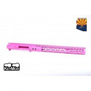 AR-15 Stripped Upper Receiver With Air Lite Handguard Set In Pink