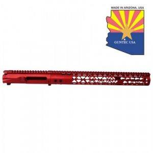 AR-15 Stripped Upper Receiver With Air Lite Handguard Set Anodized Red