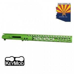 AR-15 Stripped Upper Receiver With Air Lite Handguard Set In Zombie Green