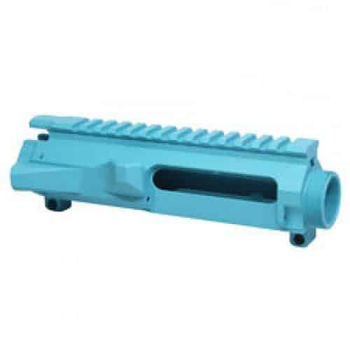 AR-15 Stripped Billet Upper Receiver in Baby Blue