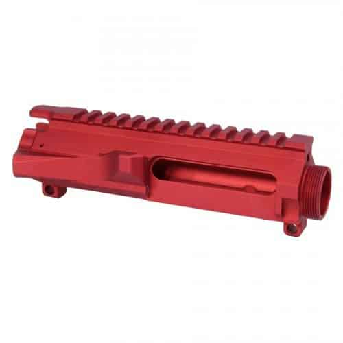 AR-15 Stripped Billet Upper Receiver in Red