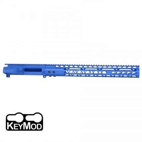 AR-15 Stripped Upper Receiver With Air Lite Handguard Set Cerakote Blue