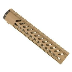 "AR15 KeyMod Rifle Length 12"" Free Float System Large Profile in Flat Dark Earth"