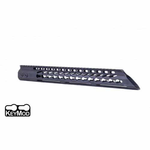 "AR15 Slant Nose 15"" KeyMod Free Flat handguard In Black"