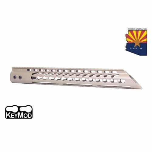 "AR15 Slant Nose 15"" KeyMod Free Flat handguard In FDE"