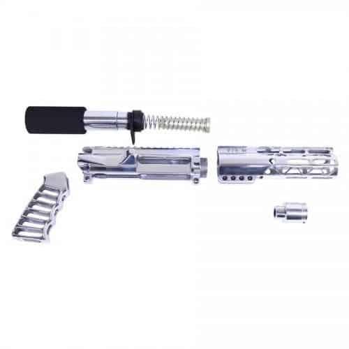 AR15 M-LOK Complete Pistol Upper Set Hight Polish