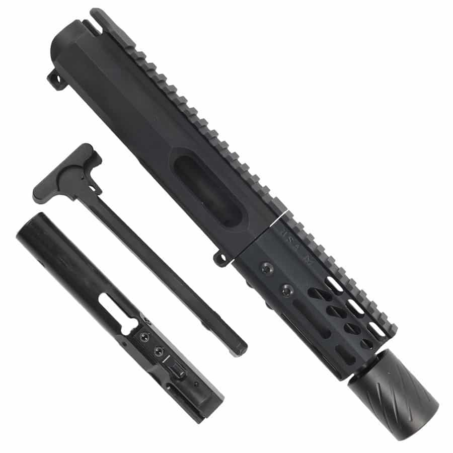 AR-15 9MM Complete Upper Receiver with 4 inch M-LOK and MCBS