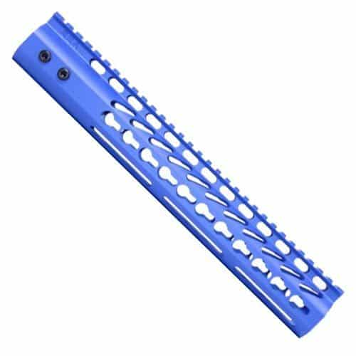 AR-15 12 inch keymod Handguard forend in cerakote nra blue copy
