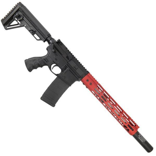 AR15 300 BlackOut Upper With 12 Inch MDLTE M-LOK And Fake Suppressor