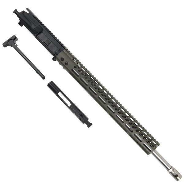 AR15 224 Valkyrie Complete Upper Receiver With 15 Inch M-LOK Handguard OD Green