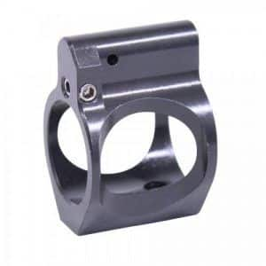 AR15 Skeletonized Adjustable Steel Low Profile Gas Block Nitride Gen 2