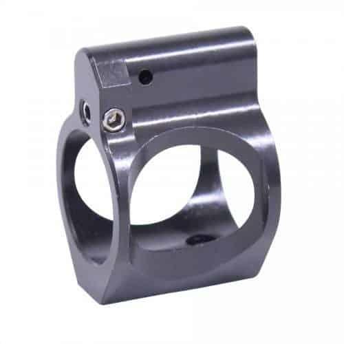 AR15 Skeletonized Adjustable Steel Low Profile Gas Block Nitride Gen 2
