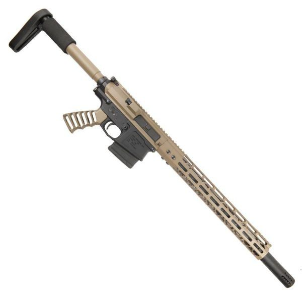 AR 308 Complete Upper With 15 Inch ModLite M-LOK And Fake Can FDE Rifle