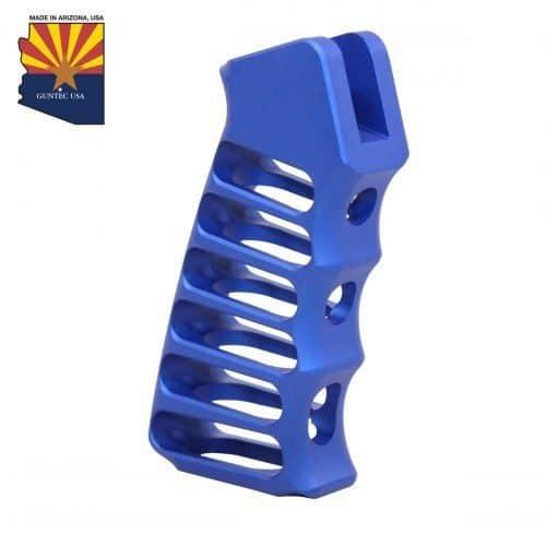 AR-15 Skeletonized Aluminum Pistol GripAnodize Blue