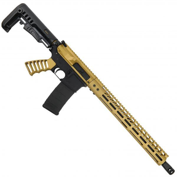 "AR-15 5.56 ""Golden Eye"" Series 15"" M-LOK with Stock and Grip Upper Set complete assembled"