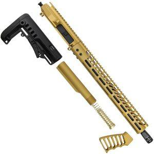 "AR-15 5.56 ""Golden Eye"" Series 15"" M-LOK with Stock and Grip Upper Set"