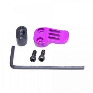 purple anodized extended magazine release for ar15 lower receiver