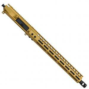 AR-15 9MM PCC Upper Receiver in Anodized Gold Finish M-LOK