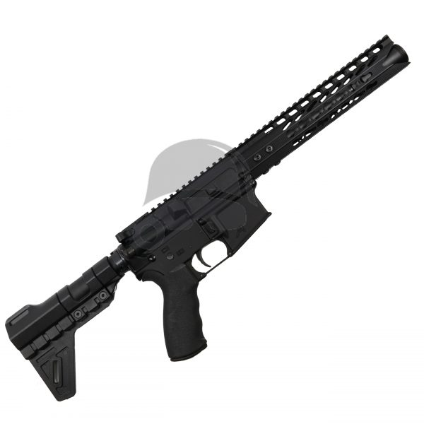 "AR-15 Pistol Upper with 10"" Keymod Shark Handguard with Pig Cone 5.56 complete pistol"