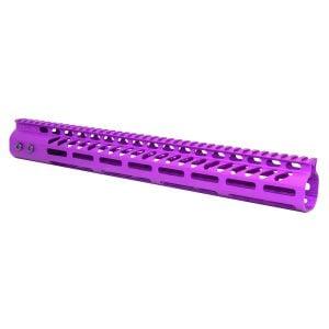 "AR-15 15"" M-LOK Ultra Light Free Flat Handguard in anodized Purple"