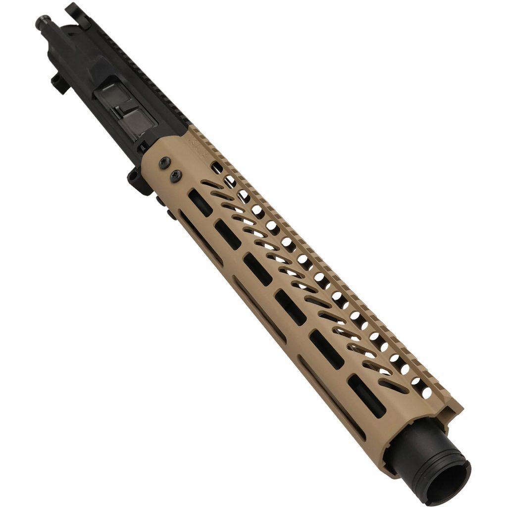 AR-308 LR308 .308 caliber Complete Pistol Upper Receiver RIP Series in FDE
