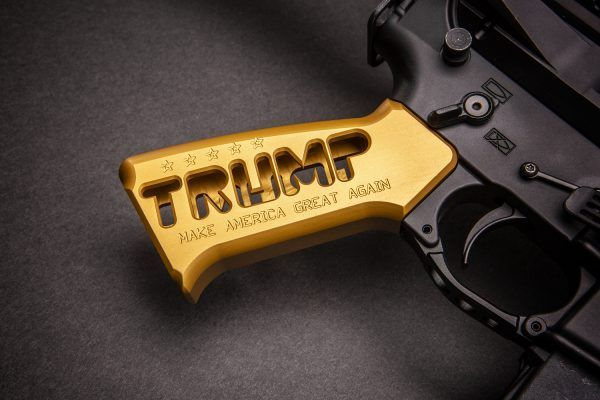 """AR-15 """"Trump"""" Series Limited Edition Pistol Grip in Anodized Gold"""