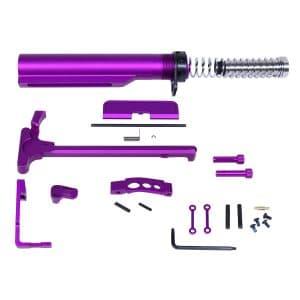 AR-15 Anodized Purple Compete Accessory Kit