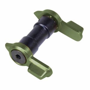 AR-15 Ambidextrous Safety in Anodized Green with 90 or 45 degree