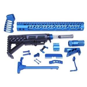 AR-15 Blue Anodized Full Rifle Parts Kit