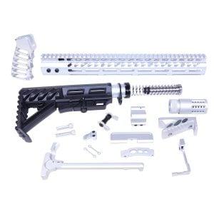 AR-15 Aluminum Clear Anodized Full Rifle Parts Kit