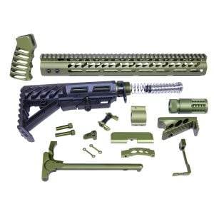 AR-15 Green Anodized Full Rifle Parts Kit