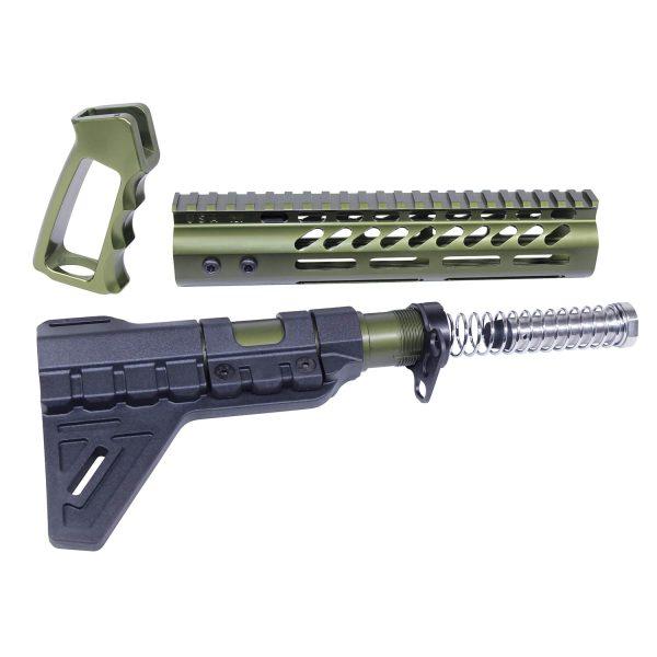 AR-15 Anodized Green Ultra Pistol Furniture Set