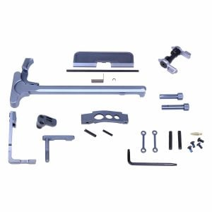 AR-15 Upper and Lower Accent Kit in Anodized Grey