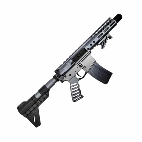 The Grey Ghost AR-15 Pistol full Grey Anodize in 5.56
