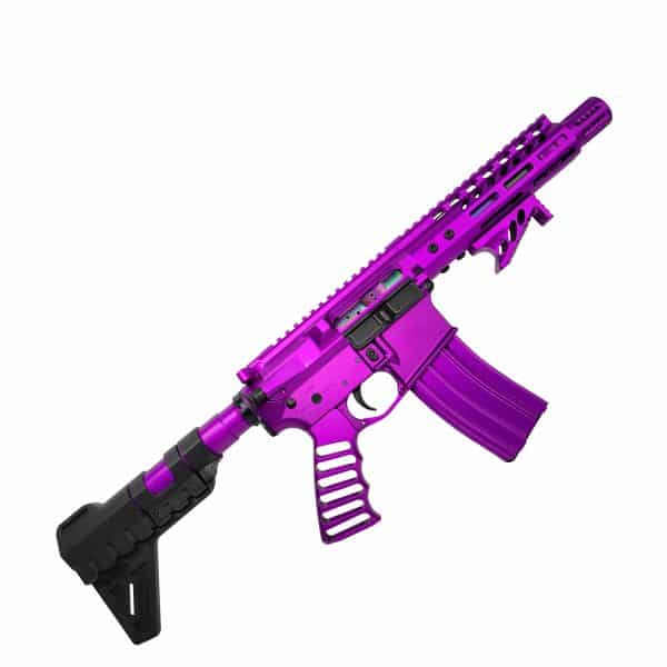 The People Eater AR-15 Pistol full Anodized Purple in 5.56