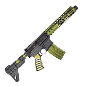 The Green Monster AR-15 Pistol Two Tone Black and OD Green Anodized in 5.56