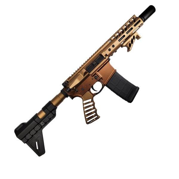 The Legion AR-15 Pistol in 5.56 full Burnt Bronze Anodize